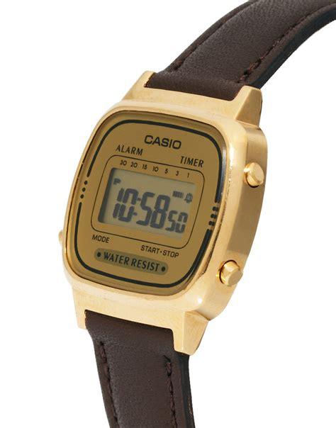Casio Digital g shock brown leather digital la670wegl 9ef