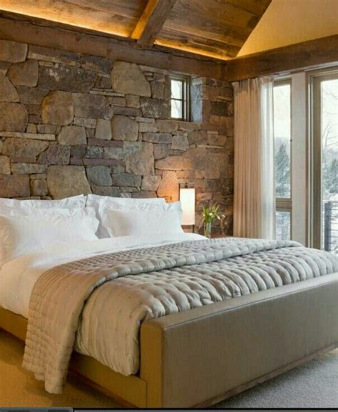 rock wall in bedroom stone wall bedroom home pinterest