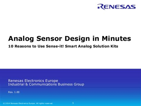 analog layout jobs in europe 10 reasons to use the renesas smart analog solution kit