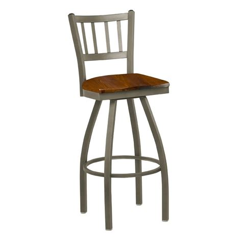 metal bar stools swivel with back regal seating 3509 steel jailhouse back swivel bar stool