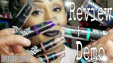 broadway colors broadway colors true matte lipsticks review demo