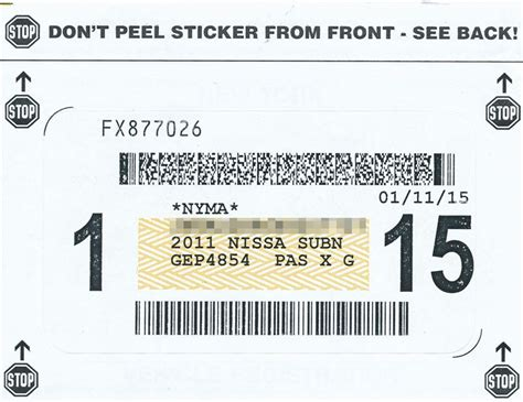 Dmv Registration Sticker