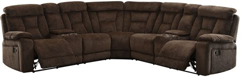 brown reclining sectional maybell brown reclining sectional from furniture of
