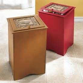 country style trash bin wooden trash can keeps your home clean waste and mess free