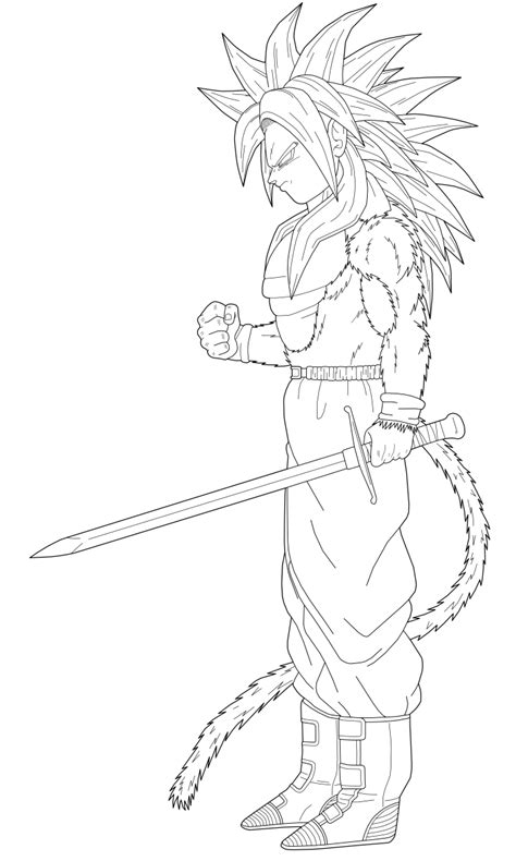 dragon ball z trunks coloring pages dbz goku ssj4 coloring pages