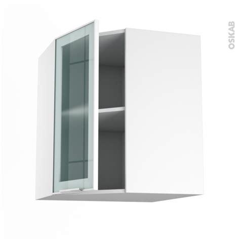 meuble angle haut fa 231 ade blanche alu vitr 233 e 1 porte n 176 19 l40 l65xh70xp37 sokleo oskab