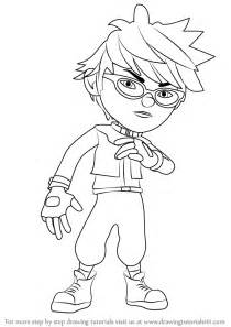 step by step how to draw fang from boboiboy