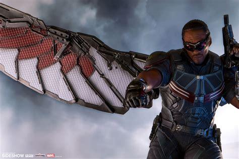 Falcon Civil War marvel falcon polystone statue by iron studios sideshow
