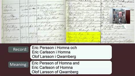 Swedish Birth Records Reading Swedish Birth And Christening Records 1854