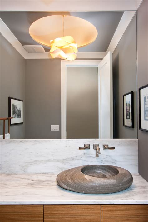 unique bathroom sinks Powder Room Modern with beige