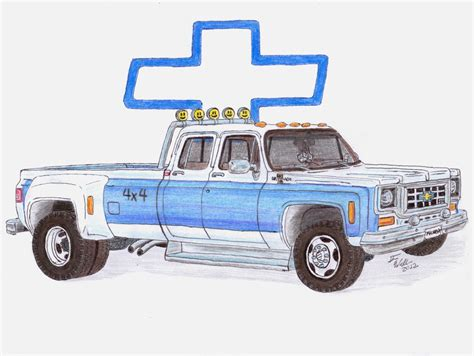 Chevy Truck Drawings by Buster S Chevy Truck By Deorse On Deviantart