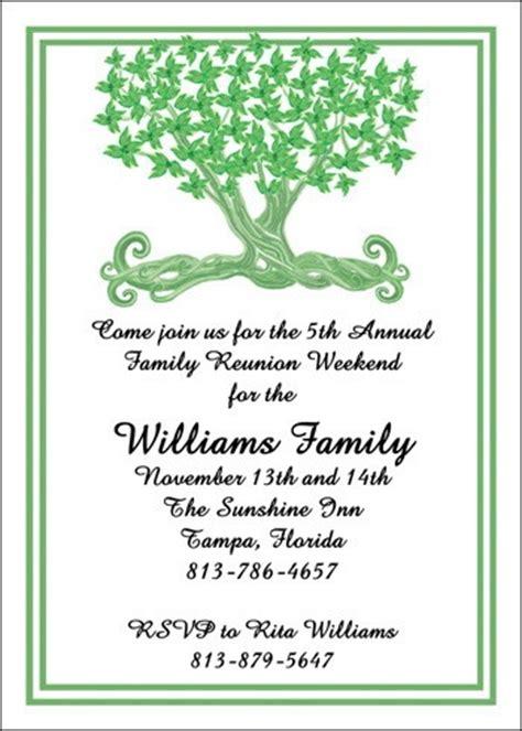 family invitation wording family tree reunion invitation cards 5472cs pk