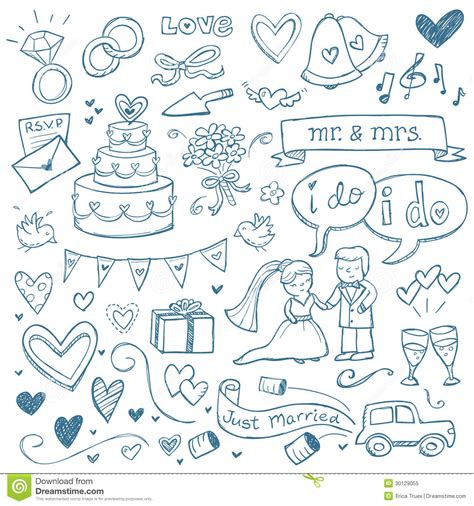 free doodle vectors wedding doodles royalty free stock photo image 30129055