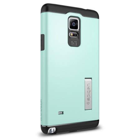 Spigen Slim Armor Samsung Galaxy Note 4 Hardcase 1 spigen slim armor samsung galaxy note 4 tough mint