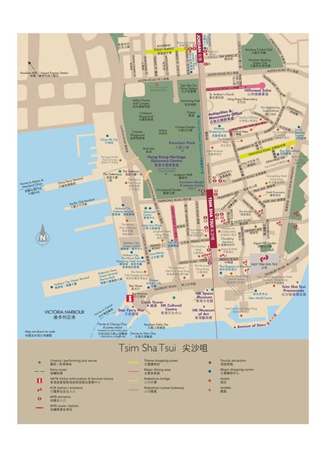 printable street map of hong kong maps of hong kong tourist transport and street maps