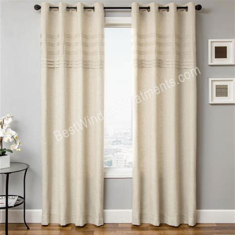 popular window treatments caruso grommet top curtain panel available in 4 colors