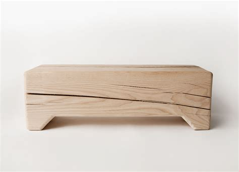 raw bench trunk modern raw wood bench kalon studios us