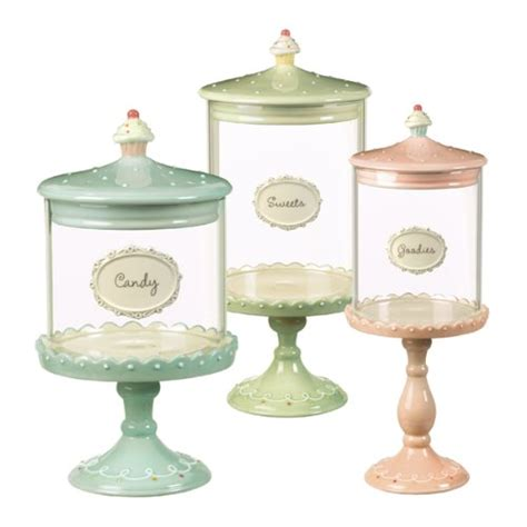 Clear Glass Canisters For Kitchen Sweet Finds Cupcake Pedestal Candy Jars The Tiny Tiara