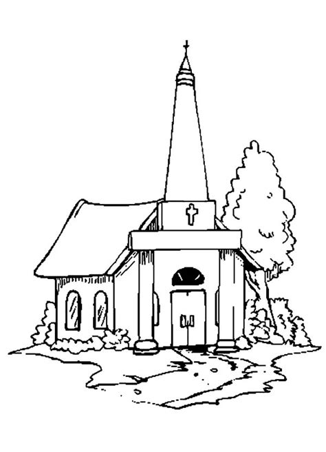 easy church coloring pages stunning church coloring pictures gallery triamterene us