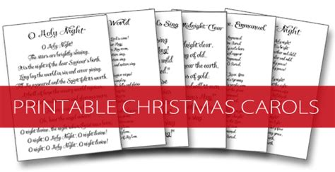 printable christmas carols 101 days of christmas printable christmas carols life