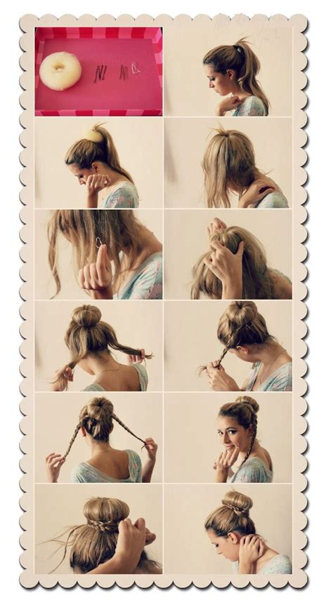 hairstyles buns step by step step by step braid bun laci jo pinterest