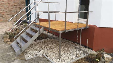 treppe mit podest stb haus und garten podeste
