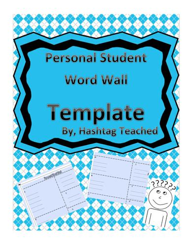 Personal Word Wall By Lbrowne Teaching Resources Tes Personal Word Wall Template