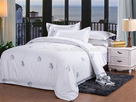hotel quality bedding good quality 200t 100 cotton wholesale hotel bedding used