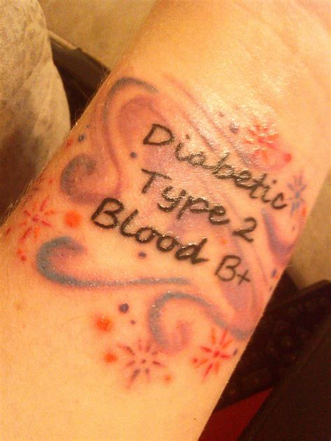 diabetic tattoos my new medic alert my style