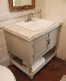 Home dzine bathrooms make a vintage bathroom vanity