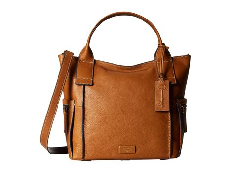 Fossil Satchel Brown fossil emerson satchel in brown lyst