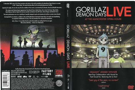 Dvd Import Gorillaz Days Live jaquette dvd de gorillaz days live cin 233 ma