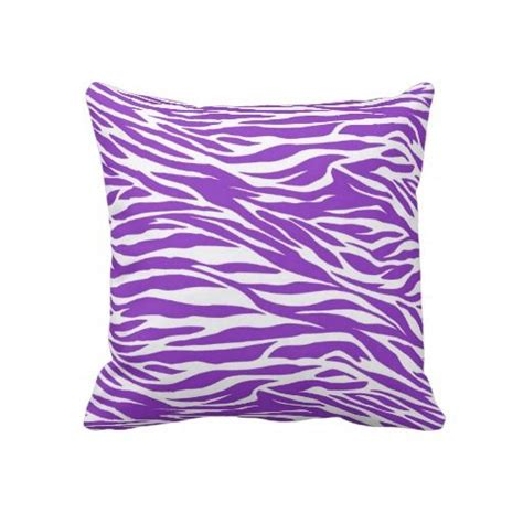 purple zebra stripes throw pillow