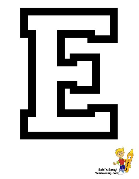 Letter Book free coloring pages of letter e