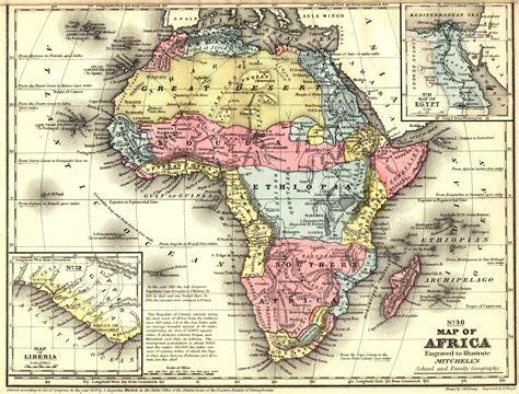 africa map vintage vintage africa map studies vanderbilt