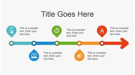 Simple Flat Timeline Design For Powerpoint Slidemodel Simple Ppt Templates For Project Presentation