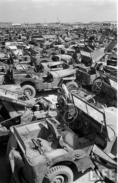 Just A Car Guy: the Jeep graveyard of Okinawa, 1949