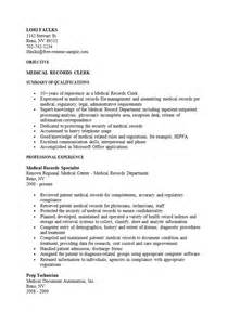 records clerk resume - Medical Records Clerk Resume