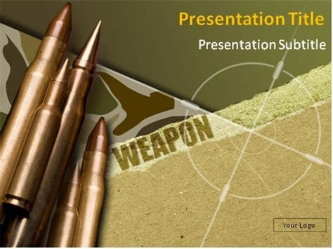 powerpoint templates army free download download weapon theme with bullets in the background