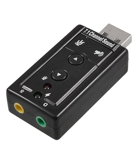 Sound Card Usb Pc indiashopers usb external 7 1 channel 3d audio
