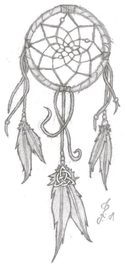 dream catcher tattoo outline dreamcatcher with celtic knot for family i believe