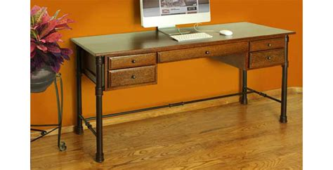 rustic home office desk rustic writing desk with metal base