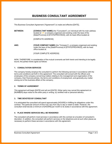 Consultancy Agreement Letter Format 4 Consulting Agreement Template Weekly Agenda Planner