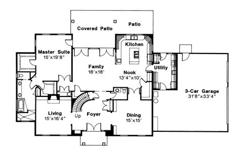 colonial home floor plans colonial house plans kearney 30 062 associated designs