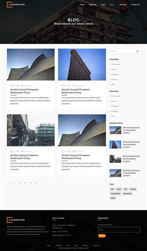 bootstrap templates for construction builders construction html bootstrap template by