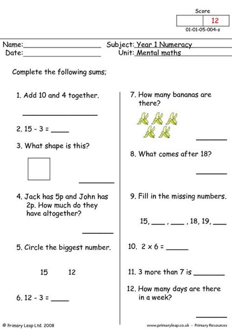 mental maths 4 primaryleap co uk