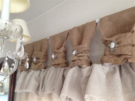 how to make lined burlap curtains burlap linen curtains with jewelry accent