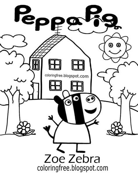 zoe zebra coloring page zoe zebra peppa pig coloring pages coloring pages