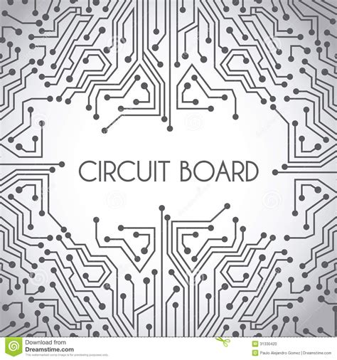 vector board layout circuit board design stock photo image 31330420