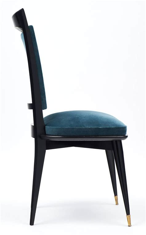 teal armchair for sale mid century modern period set of six teal velvet dining